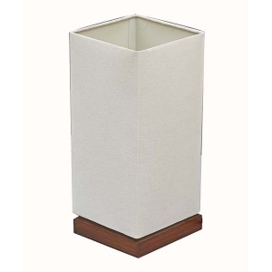 white wood table lamp,table lamp with white linen fabric shade | Goodly Light-GL-TLW001-3