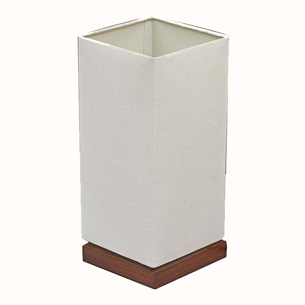 classic Nightstand Lamp with white Linen Fabric Shade 1