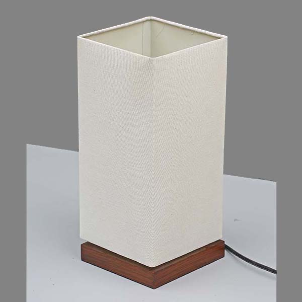 classic Nightstand Lamp with white Linen Fabric Shade 2