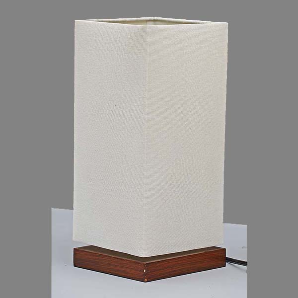 classic Nightstand Lamp with white Linen Fabric Shade 3