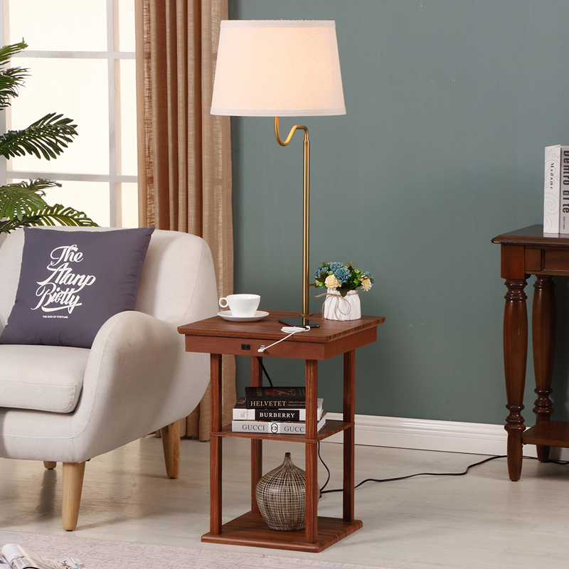 Usb End Table Lamp Lamps With