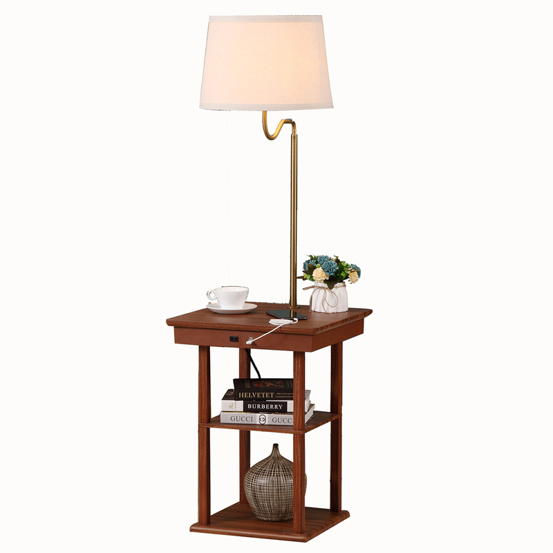 USB End Table Lamp, usb table lamp,lamps with usb,lamp with usb charger | Goodly Light-GL-FLWS05-USB Featured Image