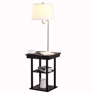 USB End Table Lamp, usb table lamp,lamps with usb,lamp with usb charger | Goodly Light-GL-FLWS05-USB