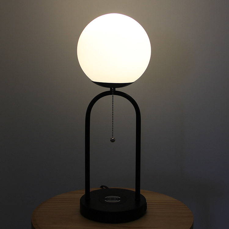 glass and metal table lamp-5