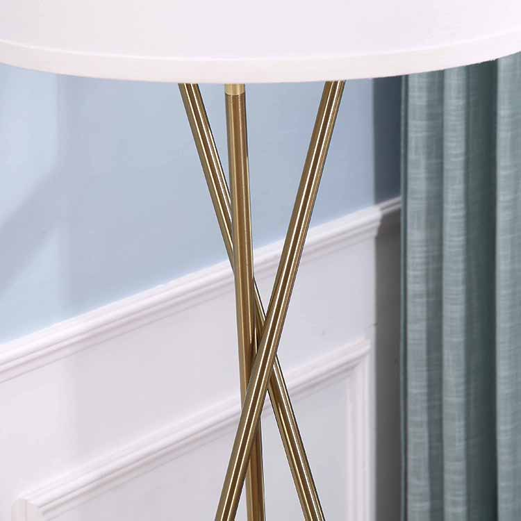 gold tripod floor lamp details 2