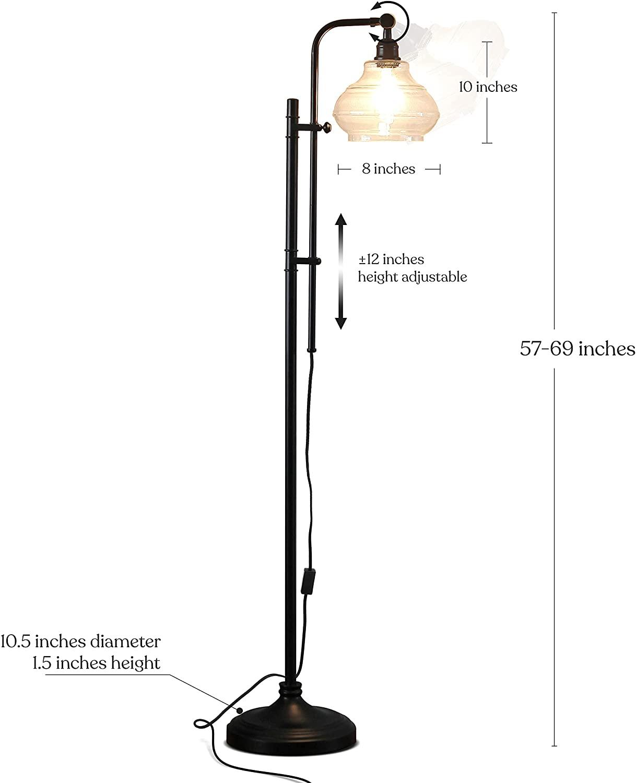 hammered metal floor lamp-2