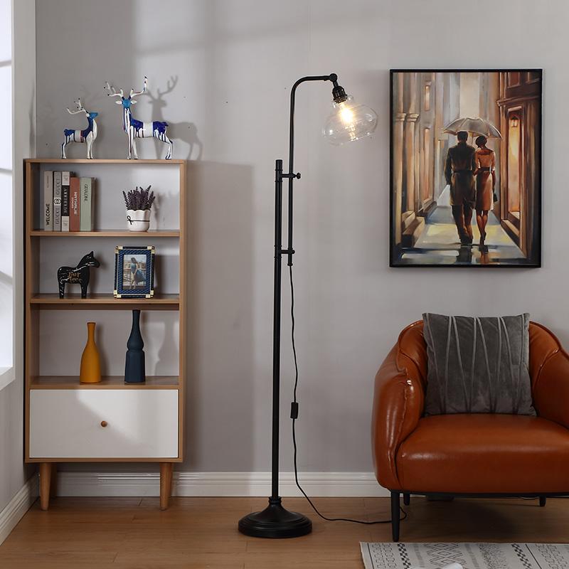 hammered metal floor lamp-3