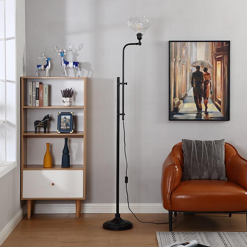 hammered metal floor lamp-7