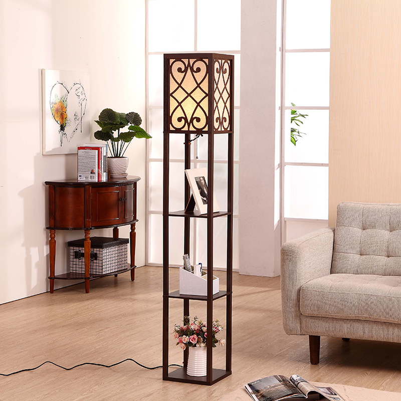 https://www.goodly-light.com/63-h-black-wooden-shelf-floor-lamp-with-floral-shade-panels-for-warm-bedroom-and-living-room-gl-flws024.html