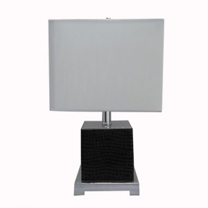 leather table lamp | rectangular table lamp | Goodly Light-GL-TLM025