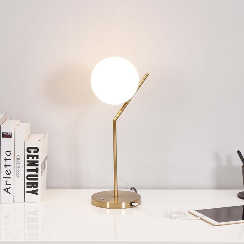 metal orb table lamp