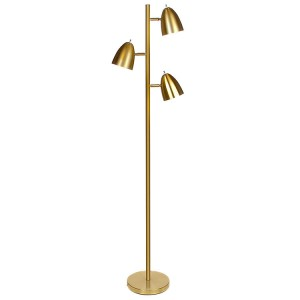 modern metal 3-light tree floor lamp