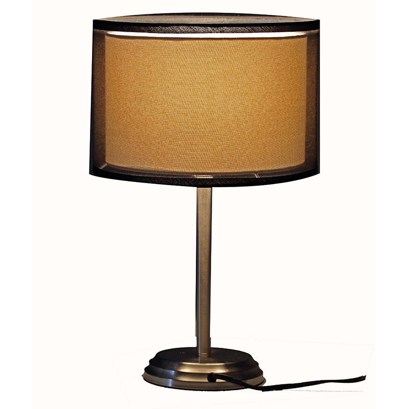 nickel table lamp | double table lamp | Goodly Light-GL-TLM018 Featured Image