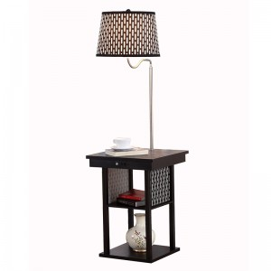 usb table lamp | side table with lamp built in and usb port | Goodly Light-GL-FLWS006-USB