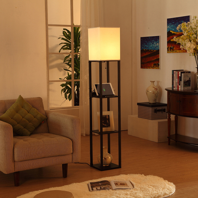shelf floor lamp with usb-application2