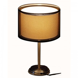 nickel table lamp | double table lamp | Goodly Light-GL-TLM018