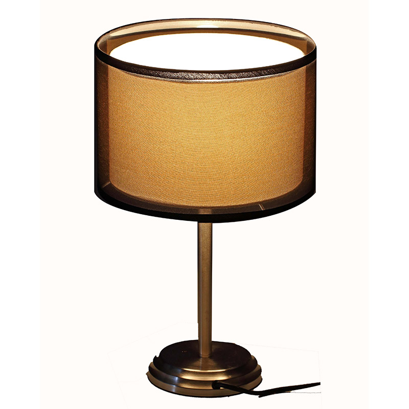 Nickel Table Lamp Double