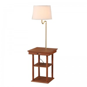 table lamp with outlet and usb | end table with lamp and usb | Goodly Light-GL-FLWS09-USB