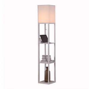 lamp with usb port,Wood Shelf Floor Lamp   Goodly Light-GL-FLWS007-USB
