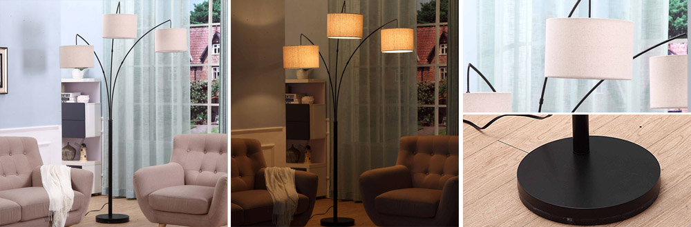 tree floor lamp with metal shades