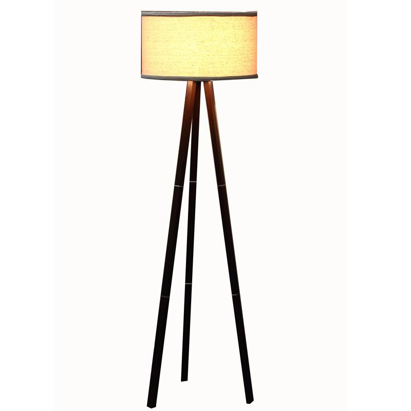 Wooden Floor Lamp Tripod Contemporary Goodly Light Gl Flw009