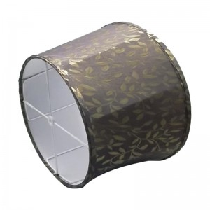 black gold lamp shade   24 inch drum lamp shade   Goodly Light-GL-SH017