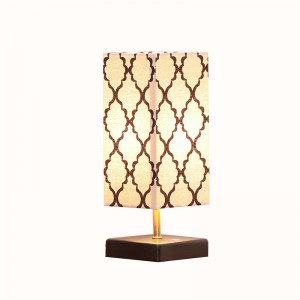 Wood Table Lamp | table lamp with usb ports | Goodly Light-GL-TLW004-USB