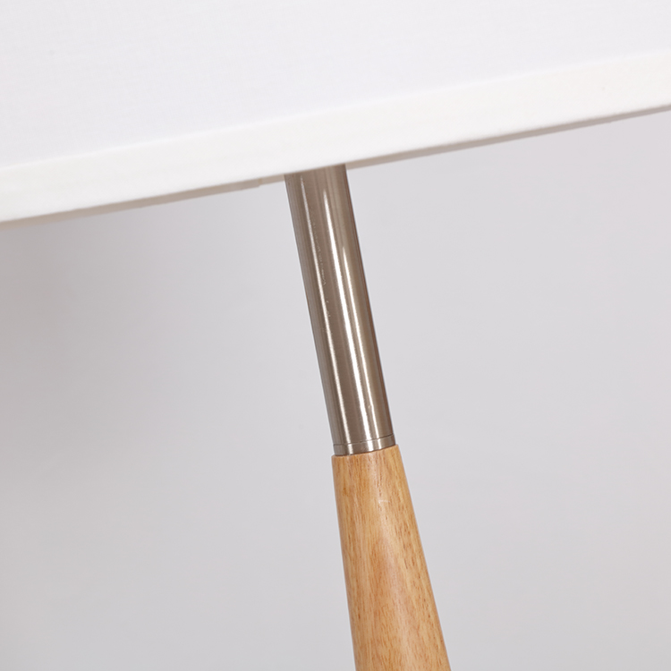 wood and metal floor lamp-details 1