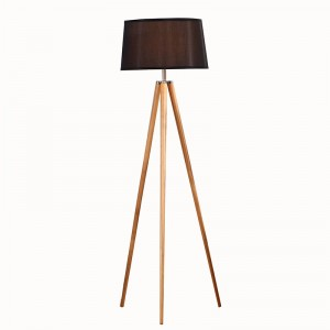 Natural Wood Tripod Floor Lamp, white wooden tripod floor lamp | Goodly Light-GL-FLW002