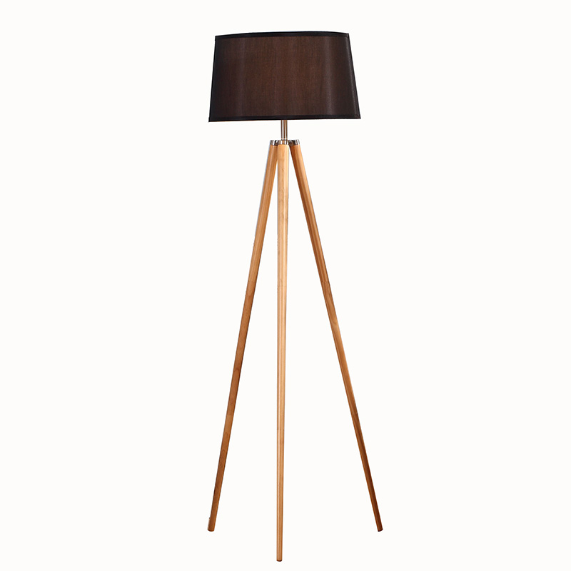 Natural Wood Tripod Floor Lamp, white wooden tripod floor lamp | Goodly Light-GL-FLW002 Featured Image